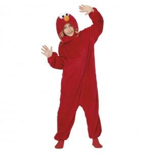 Disfraz de Elmo Barrio Sésamo para niño