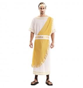 Disfraz de Emperador Romano dorado para hombre