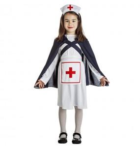 Disfraz de Enfermera con capa para niña