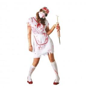 Disfraz de Enfermera Sangrienta Zombie Adulto