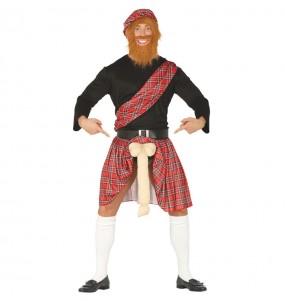 Disfraz de Escocés Exhibicionista para adulto