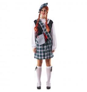 Disfraz de Escocesa Celta para mujer