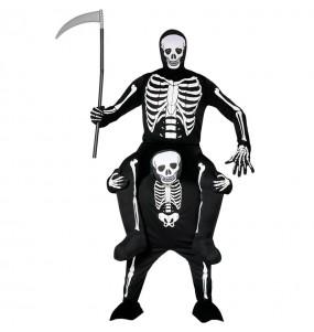 Disfraz de Esqueleto a hombros adulto