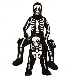 Disfraz de Esqueleto a hombros para niños