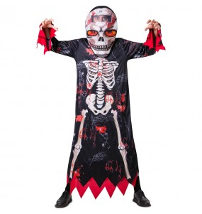 Disfraz de Esqueleto cabezudo para adulto