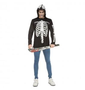 Disfraz de Esqueleto casual para hombre