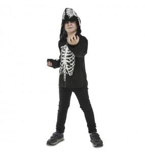 Disfraz de Esqueleto casual para niño