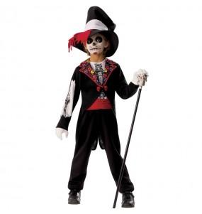 Disfraz de Esqueleto Catrín para niño