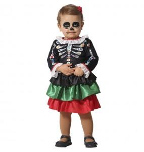 Disfraz de Esqueleto Catrina para bebé