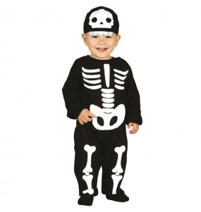 Disfraz de Esqueleto clásico para bebé