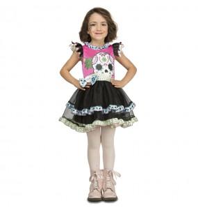 Disfraz de Esqueleto Colores para niña