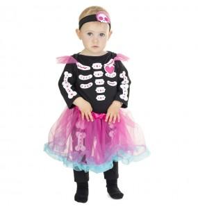 Disfraz de Esqueleto con tutú rosa para bebé