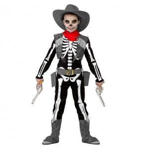 Disfraz de Esqueleto Cowboy niño