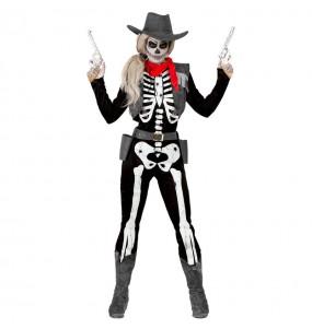 Disfraz de Esqueleto Cowgirl mujer