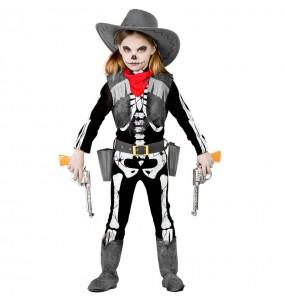 Disfraz de Esqueleto Cowgirl niña