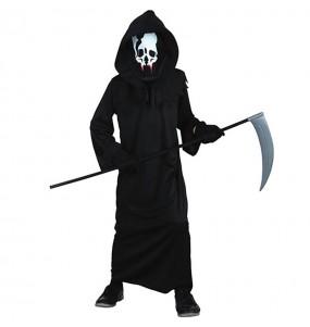 Disfraz de Esqueleto de la muerte para niño