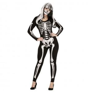 Disfraz de Esqueleto de las tinieblas para mujer