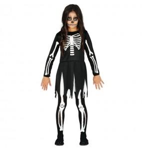 Disfraz de Esqueleto de las tinieblas para niña