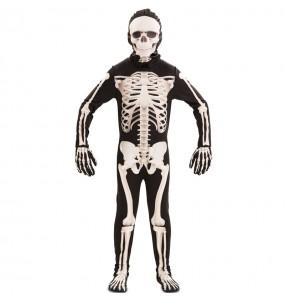 Disfraz de Esqueleto deluxe para niño