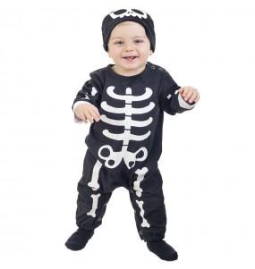 Disfraz de Esqueleto Huesos para bebé