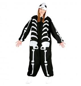 Disfraz de Esqueleto Kigurumi para adulto