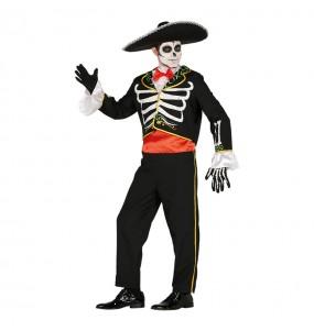 Disfraz de Esqueleto Mariachi adulto