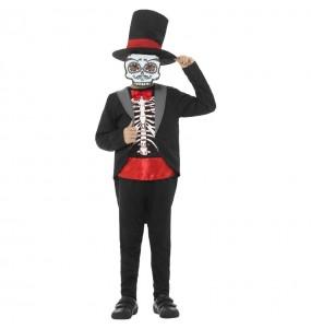 Disfraz de Esqueleto Mexicano Catrín para niño