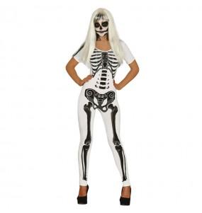 Disfraz de Esqueleto Mujer Blanco