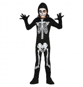 Disfraz de Esqueleto niño barato