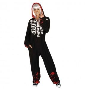 Disfraz de Esqueleto Sangriento Kigurumi para hombre