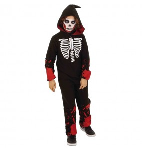 Disfraz de Esqueleto Sangriento Kigurumi para niño