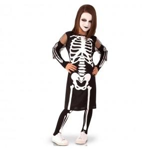 Disfraz de Esqueleto siniestro para niña