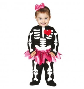 Disfraz de Esqueleto tutú para bebé