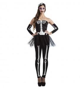 Disfraz de Esqueleto tutú para mujer
