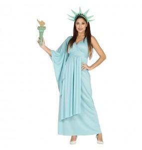 Disfraz de Estatua de la Libertad mujer
