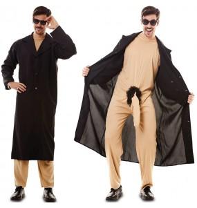 Disfraz de Exhibicionista con gabardina para hombre