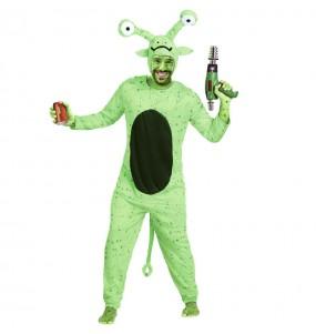 Disfraz de Extraterrestre Verde adulto