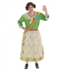 Disfraz de Fallera Mayor de Valencia para adulto