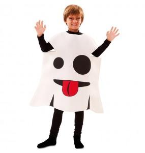 Disfraz de Fantasma Emoticono para niño