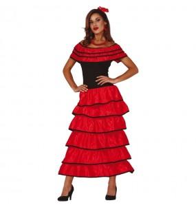 Disfraz de Flamenca Roja para mujer