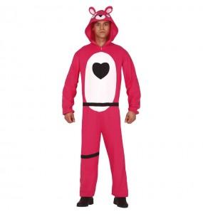 Disfraz de Fortnite Oso Rosa para adulto