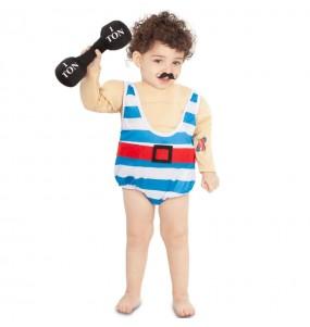 Disfraz de Forzudo Circo para bebé