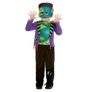 Disfraz de Frankenstein verde para bebé