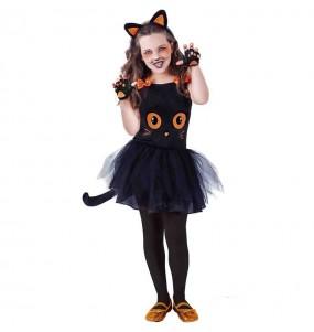 Disfraz de Gata negra con tutú para niña