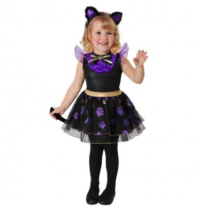 Disfraz de Gata violeta para bebé