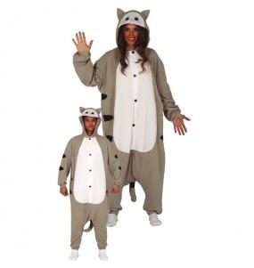 Disfraz de Gato Gris Kigurumi para adulto