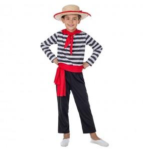 Disfraz de Gondolero para niño