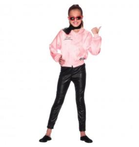 Disfraz de Grease Chaqueta Pink Ladies para niña