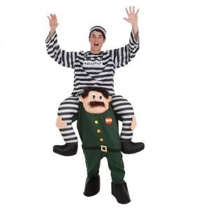 Disfraz de Guardia Civil con Preso a hombros para adulto