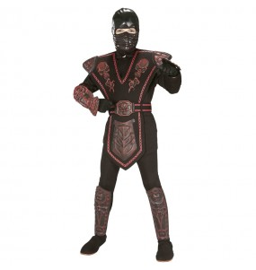 Disfraz de Guerrero Ninja rojo para niño